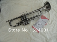 Big Musical Instruments factory production can also customize TR 1335 black nickel small Bb trumpet inventory