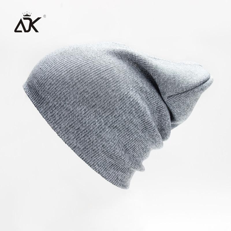 Mixcolor Plain Knitted Hat For Girl Unisex Male Cap Women's Fashion Hip Hop   Beanies   Stretch Bonnet Slouchy   Skullies     Beanies   Men