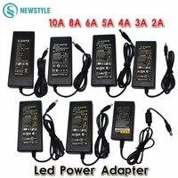 New 12V2A 3A 4A 5V 6A 8A 10A AC 100V 240V Converter Adapter US EU