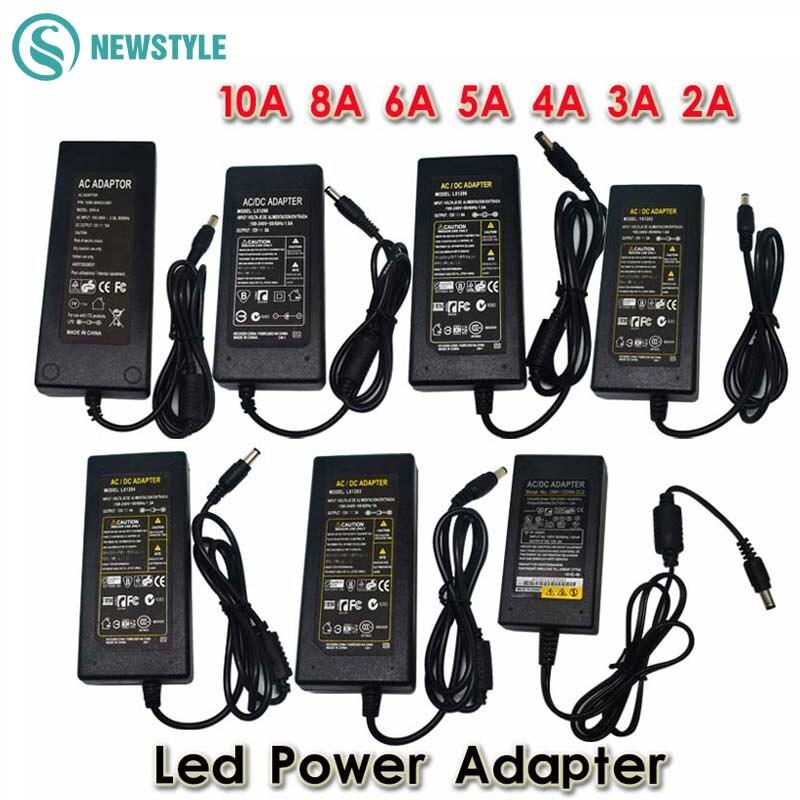 Dc12v led fonte de alimentação led driver AC100-240V a 12 v 24 v adaptador de energia transformador iluminação para led strip luz