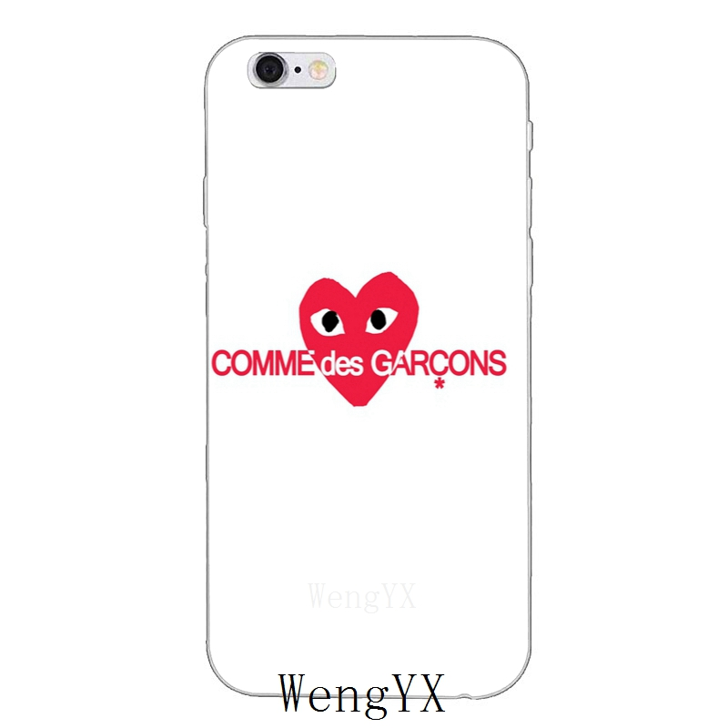 359e4b75ced2 Japan CDG comme des garcons play pattern Slim Soft phone case For Xiaomi Mi  6 A1 5 5s 5x mix max 2 Redmi Note 3 4 5 5A pro plus-in Half-wrapped Case ...