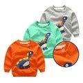 Crianças Camisolas de Primavera e Outono Unisex T shirt Gola redonda dinossauro Dos Desenhos Animados Manga Completo Casual impresso hoodies terry