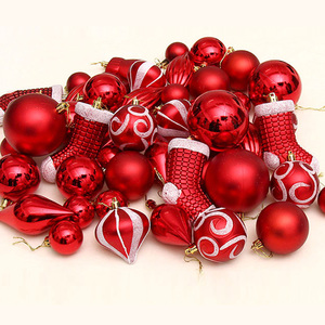 Image 3 - FUNNYBUNNY 50pcs Christmas Balls Ornaments Set Decorative Baubles Pendants with Reusable Hand held Gift Package for Xmas Tree