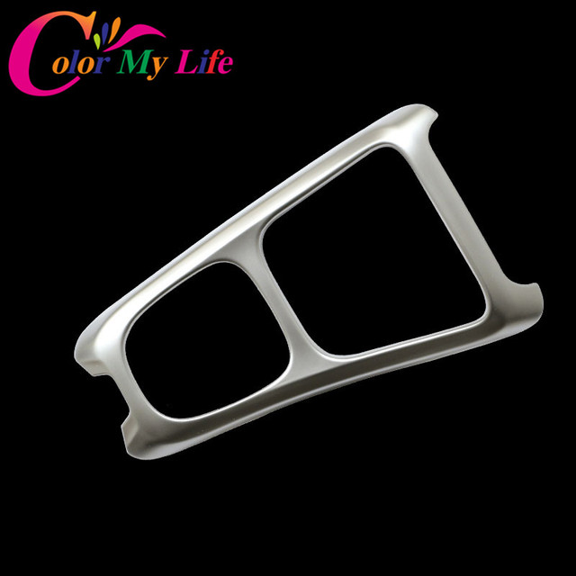 Color My Life ABS Chrome Internal Gear Shift Panel Protective Frame Cover Trim Sticker for Jeep Compass 2017 2018 Accessories