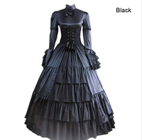 Готическая Лолита Гражданская warmedieval платье Готический викторианской бальное платье нарядное платье Пром Хеллоуин Детский костюм для вече