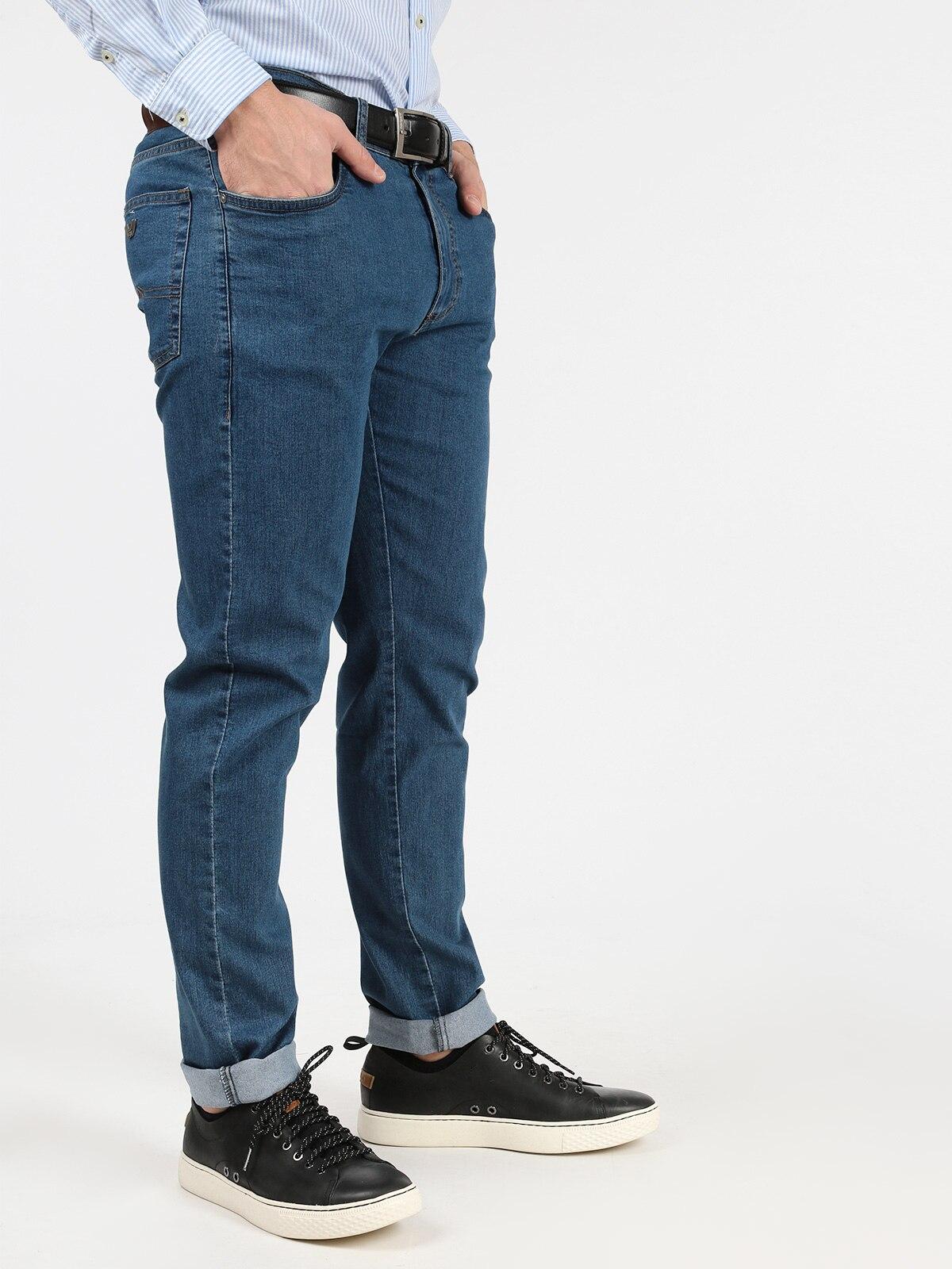 Stretch Jeans Mid Waist-plus Size