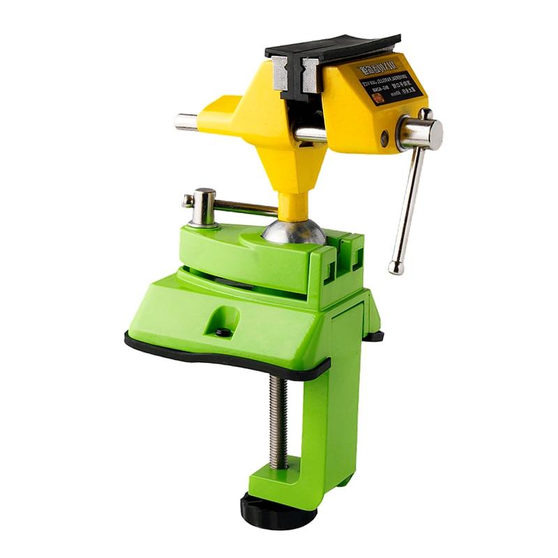 Étau universel étau de banc en alliage de Zinc 360 degrés réglable Table mâchoire vis fermement bois bancs accessoires pour outils électriques