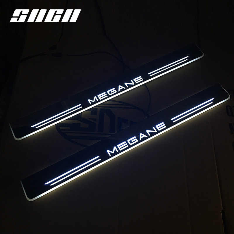 Tira SNCN Pedal coche LED luz Umbral de puerta placa del desgaste camino dinámico Streamer lámpara de bienvenida para Renault Megane 2015-2017 de 2018