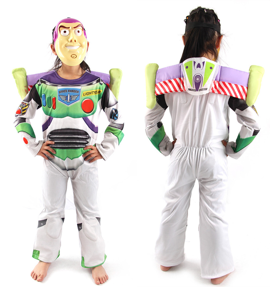 Halloween Toy Story Children  Buzz Lightyear Costume  Boy Buzz Role Play  Costume Fancy Dress Cosplay Cloths with wings