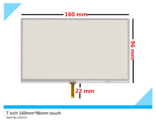 New 7 inch 4 wire 160mm*96mm Resistive Touch Screen Digitizer for GPS navigator Car navigation DVD X10 X20 LCD Free shipping