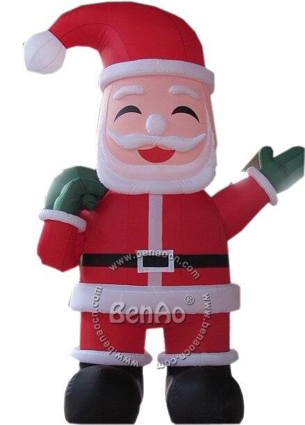 X075 4 м высота надувные праздник украшения надувной Санта-Клауса для продажи с подарками