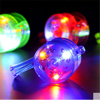 100pcs 6*3.2cm colorful LED flashing whistle blinking Bar whistle light up funny party favors decoration supplies wa3512
