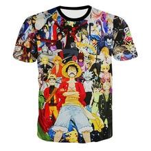 2017 casual Monkey D Luffy hiphop male concert shirt O-neck sweatshirt 3d print women/men cartoon pullover summer Tees T-shirts