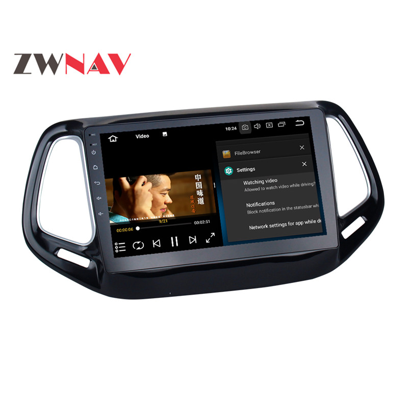 Cheap IPS Newest Octa Core Android 8.0 Quad Core 7.1 Car No DVD Player Multimedia Stereo GPS Car Radio Headunit For Jeep Compass 2017 12
