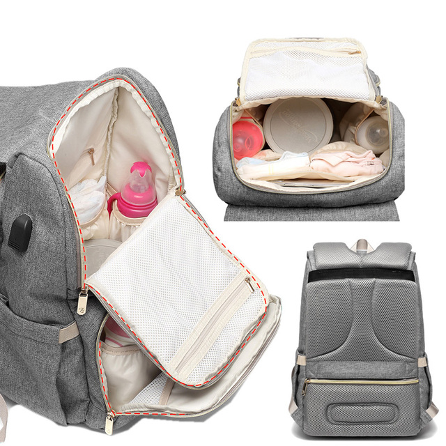 All in one diaper bag – Grey Original