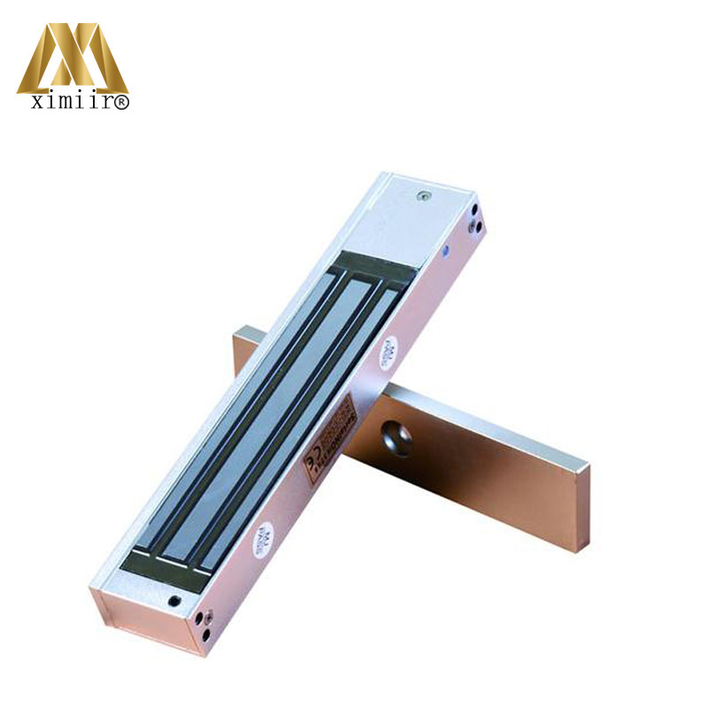 Smart Lock With LED Magnetic Lock Single M280 DC12V 280kg 600lbs Electromagnetic Lock Series For Door