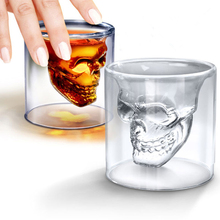 Mug Cup Skull Glass 3D Shot Double Wall Beach Drink Cocktail Whiskey Home Drinking 260 ml Verre Piscine 40
