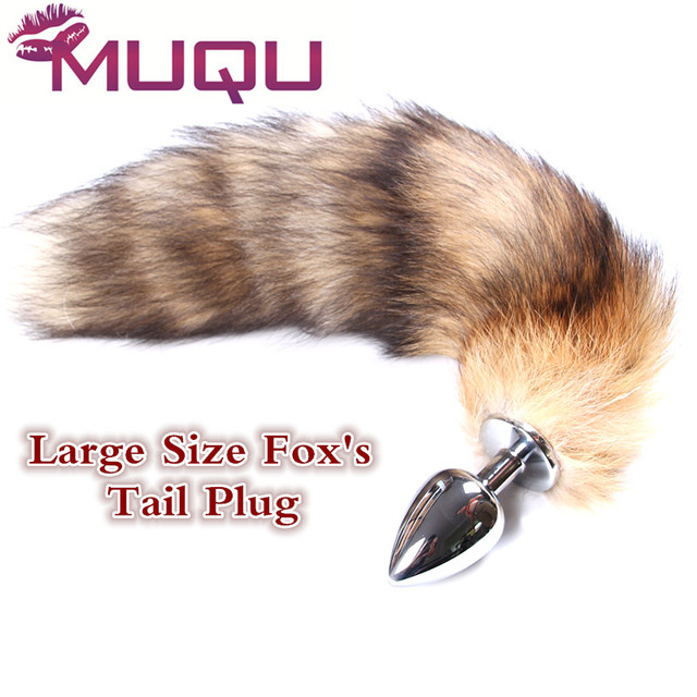 3b0db4630 Large Size Long Metal anal toys Fox tail Anal Plug erotic toys Butt Plug  sex toys