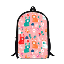 -1 1pcs Fashionable Animal Printed Canvas Backpack Cartoon Letter Graffiti Schoolbag Satchel Outdoor Sports Travel Bag Men Mochila