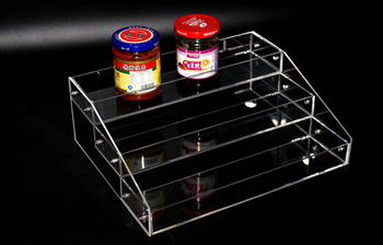 2 sets 10.5*25*50cm Acrylic cosmetics display box showing stand rack candy collection box holder rack