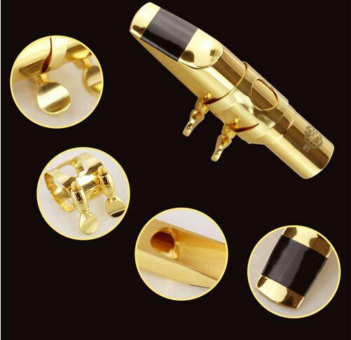 New professional saxophone Alto saxophone mouthpiece High quality brass nozzle 5C / 6C / 7C / 8C /9C pads for option replacement alto saxophone leather pads set brown 26 pcs 1 set