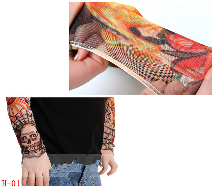 17 New kids cool Cartoon sunscreen tatoo Child arm art sleeve cycling temporary tattoo Stretchy scorpion fake tattoo sleeves 17