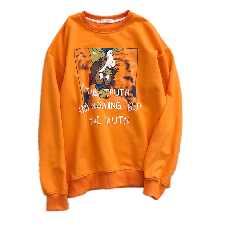 Shuchan coton sweat-shirt 2019 printemps kpop Cartoon sweat à capuche femmes top deportivo mujer designer vêtements haut tendance femme