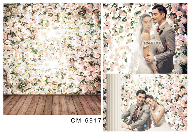 Customize vinyl cloth print flowers wall wallpaper photo studio backgrounds for portrait photography backdrops props CM-6917