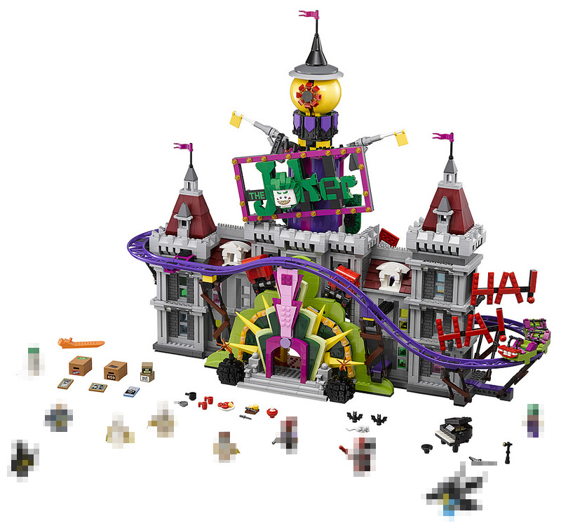 Lepin 07090 3857Pcs Super Hero Series The Joker`s Manor Diy Building Blocks Bricks Set Compatible 70922 for Children Gifts new lepin 16009 1151pcs queen anne s revenge pirates of the caribbean building blocks set compatible legoed with 4195 children