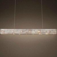 Z Modern RH Crystal Chandelier Rectangle Design Living Room European Crystal Pendant Lights Restaurant Villa Lighting