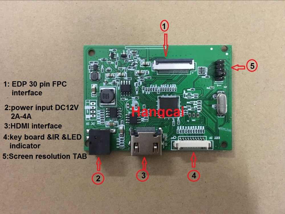 30PIN Lcd Driver Board PCB-800807V6 1Hdmi Edp Voor Screen Resolutie 1920*1200 1920*1080 1600*900 1366*768 1280*800