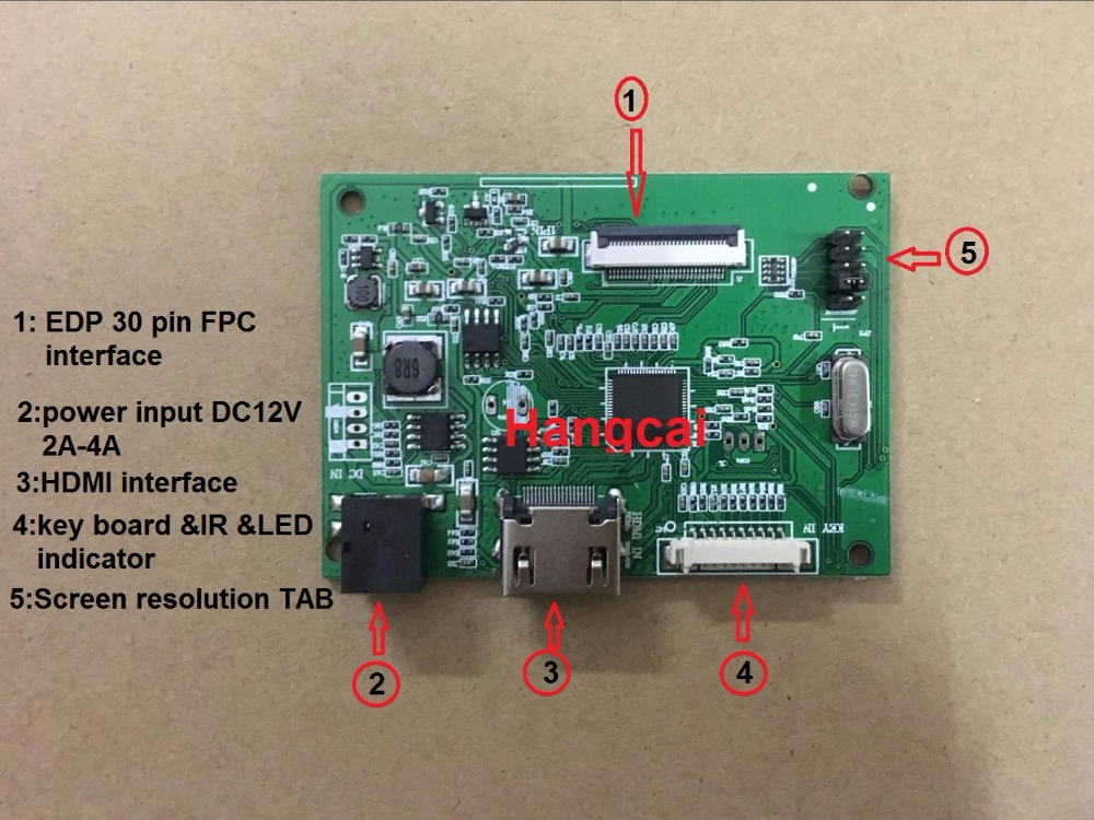 30PIN LCD Driver Board PCB-800807V1 1HDMI EDP For Screen Resolution 1920*1200 1920*1080 1600*900 1366*768 1280*800