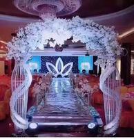 Европейский арочный каркас железная Арка ротанга причудливая рамка свадебный фон лесная серия свадебные реквизит.