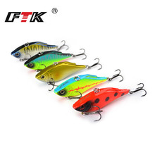 FTK Fishing Lure Kit 5pcs/lot VIB Professional Multicolor Swim Bait Hard Minnow Crankbait 73mm 15g Floating Hooks Wobblers HB набор 2 предметов ножницы в магнитном футляре 25 5см berghoff studio 2003039