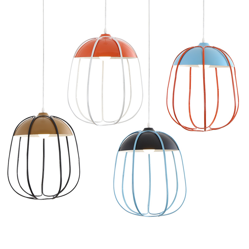Nordic modern minimalist wood and cage Pendant light Restaurant Bar Cafe creative Macarons Pendant lamp iron Aluminum wood modern simple design creative pendant light dining bar cafe vintage wood aluminum pendant lamp bedroom bedside lamp