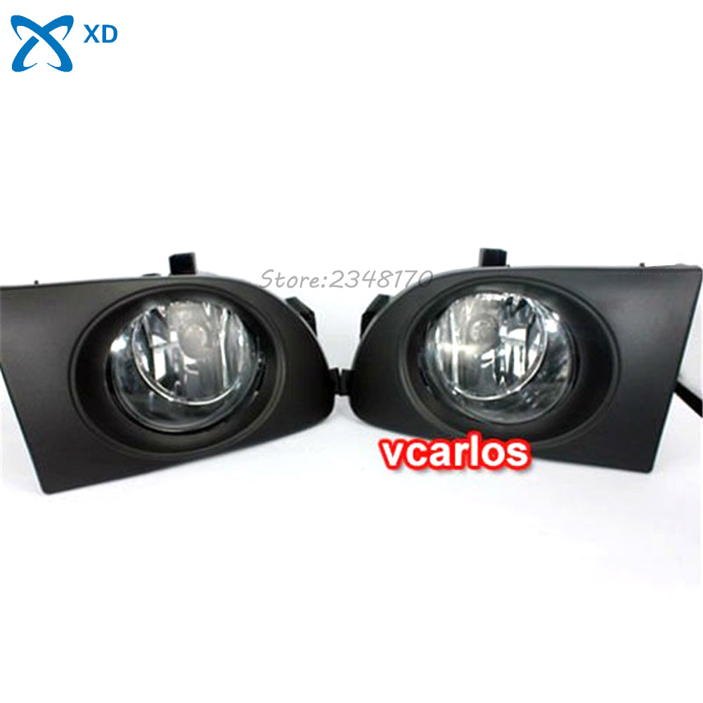 Car Fog Lights lamp For NISSAN SUNNY 2004~2008 SENTRA 2004~2008 ~ ON Clear Lens PAIR SET Wiring Kit Fog Light Set Free Shipping high quality fog lights lamps safety fog light fit for toyota yaris 2009 2010 2011 with clear lens pair set wiring kit