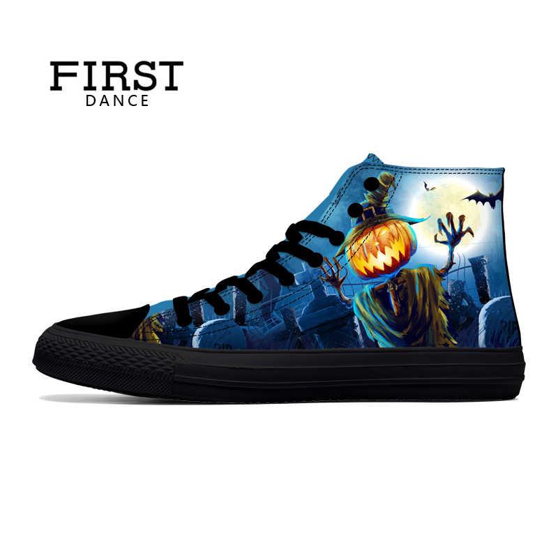 2441d7e11cc ... Первый танец дропшиппинг последовательный хороший высокое парусиновая  обувь Для мужчин высокие классические мода печатных черная обувь ...