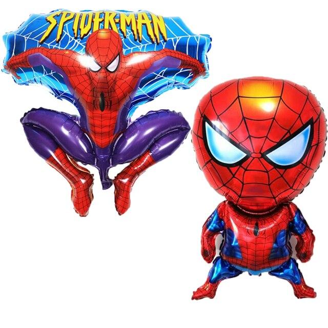 5 pçs/lote Balões Folha Spiderman Dos Desenhos Animados Crianças Brinquedos Clássicos Balões De Ar Inflável Globos Decoração da Festa de Aniversário Do Chuveiro de Bebê
