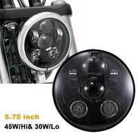 5.75 5 3/4 LED Black Headlight Motorcycle Projector for Harley Sportster Custom Harley Motorcycle Light