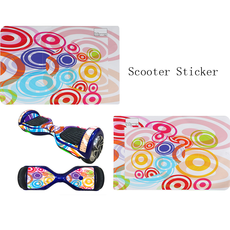 Image 4 - 1Set Cool Self Balancing Two Wheel Scooter Skin Cover Hover Skate Board Sticker 6.5 inch  Skin Cover Smart Skate Board Sticker-in Skate Board from Sports & Entertainment