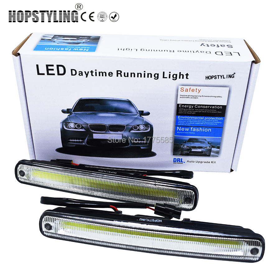 Hopstyling Car styling 2x 18.3cm white COB LED DRL Lamp Vehicle Car - Car Lights