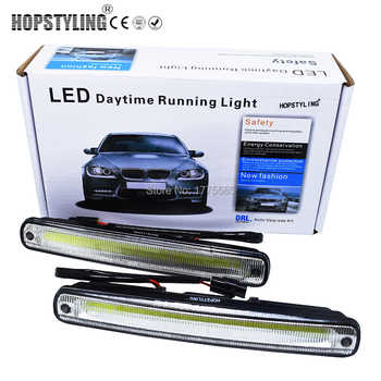 Hopstyling Car styling 2x 18.3cm white COB LED DRL Lamp Vehicle Car Daytime Running Light With Installation Bracket Warning Lamp - DISCOUNT ITEM  15% OFF All Category