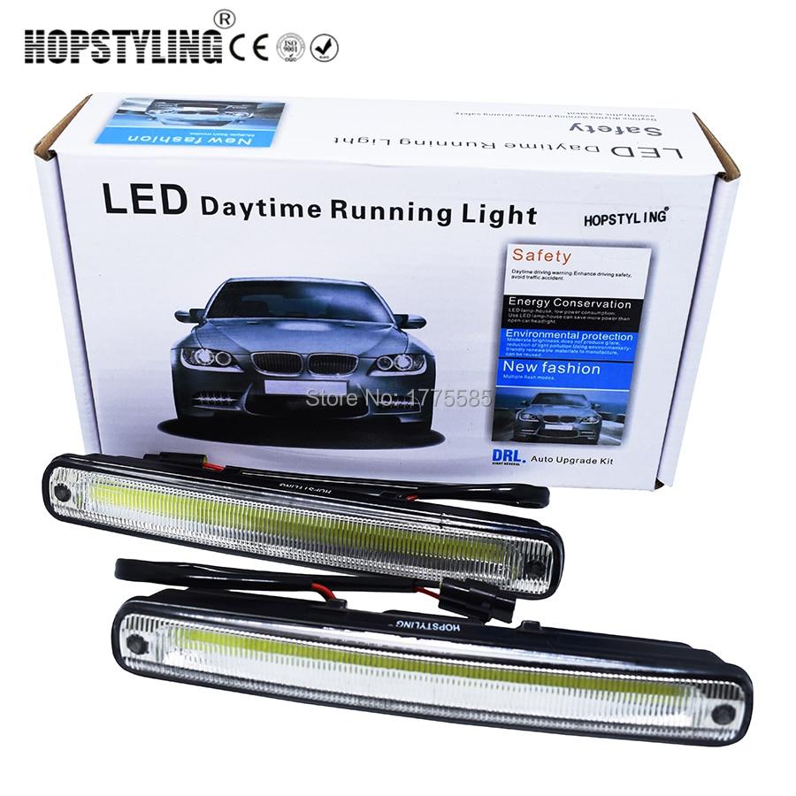 Hopstyling Car styling 2x 18 3cm white COB LED DRL font b Lamp b font Vehicle