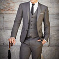 2016 Hot Sale 3Pieces Jacket+Pants+Vest Custom Made Tailor Made Wedding Suits For Men Plus Size Ternos Costume Homme