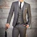 2016 Venta Caliente 3 Piezas Chaqueta + Pantalones + Chaleco Por Encargo Hecho A Medida Trajes de Boda Para Los Hombres Más El Tamaño Ternos Traje Homme