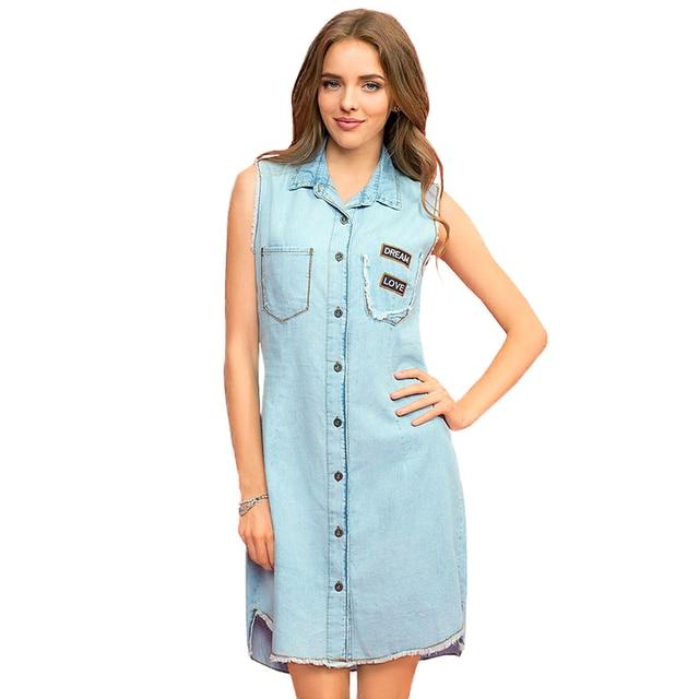 b756e287648 Платье-рубашка Gloria Jeans джинсовое без рукавов для девушки GDR012165