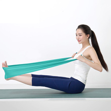 High quality 1.5m Natural emulsion material Yoga tension belt for body sculpting health care yoga sport for men and women