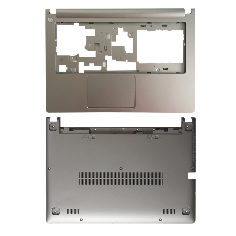 New Case Cover For Lenovo Ideapad M30-70 Laptop Upper Cover Without Touchpad/Laptop Bottom Base Case Cover Silver