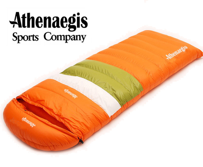 Athenaegis Ultralight goose down 600g/800g/1000g filling can spliced envelope breathable sleeping bag 1000g