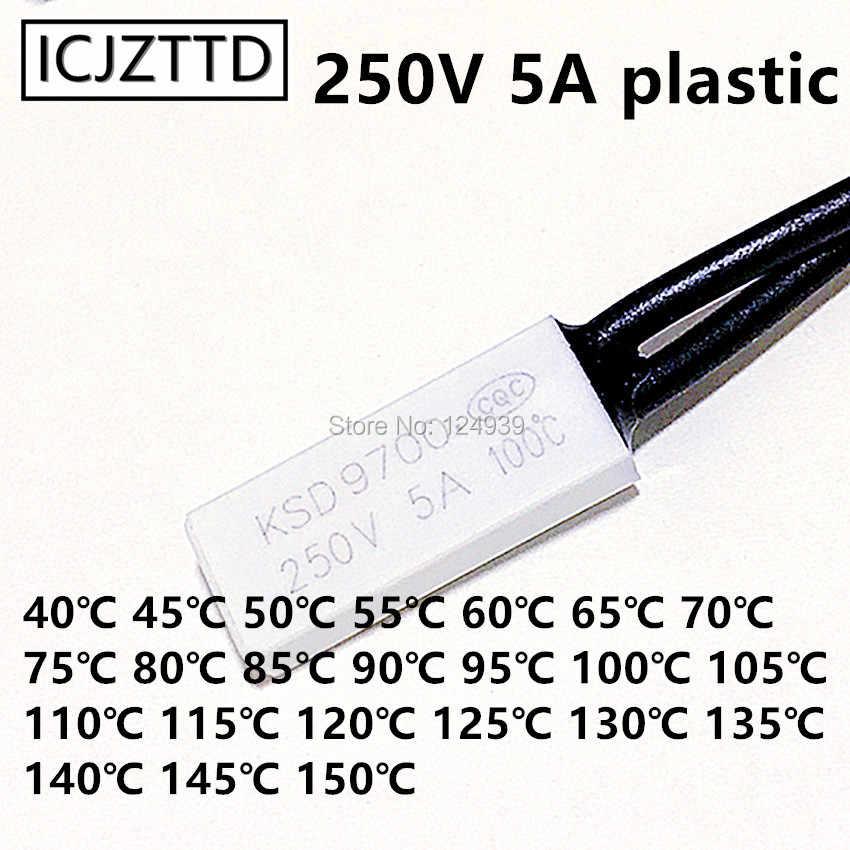1 pcs KSD9700 Thermostaat 5A 250 V plastic Temperatuur Thermische Schakelaar normaal gesloten nc/no 40/45 /50/55/60/65/70/80/85/90